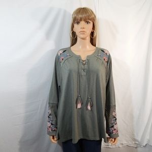 NWT NEW Style & Co Size 1X 18/20 Top Shirt Blouse